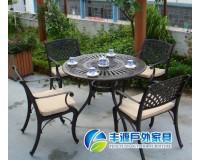 欧式铸铝休闲桌椅