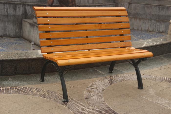 成都公园铁木椅子GM004